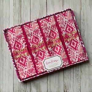Lilly Pulitzer Embroidered Cocktail Napkin Set NEW